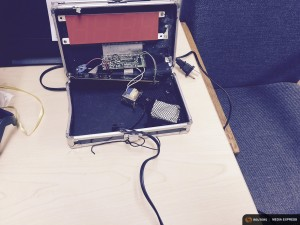 A homemade clock made by Ahmed Mohamed, 14, is seen in an undated picture released by the Irving Texas Police Department September 16, 2015.  REUTERS/Irving Texas Police Department/Handout via Reuters