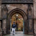 A student walks on the campus of Yale University in New Haven, Connecticut November 12, 2015. REUTERS/Shannon Stapleton