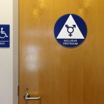 A gender-neutral bathroom is seen at the University of California Irvine campus in Irvine, California, United States on September 30, 2014. REUTERS/Lucy Nicholson/File Photo