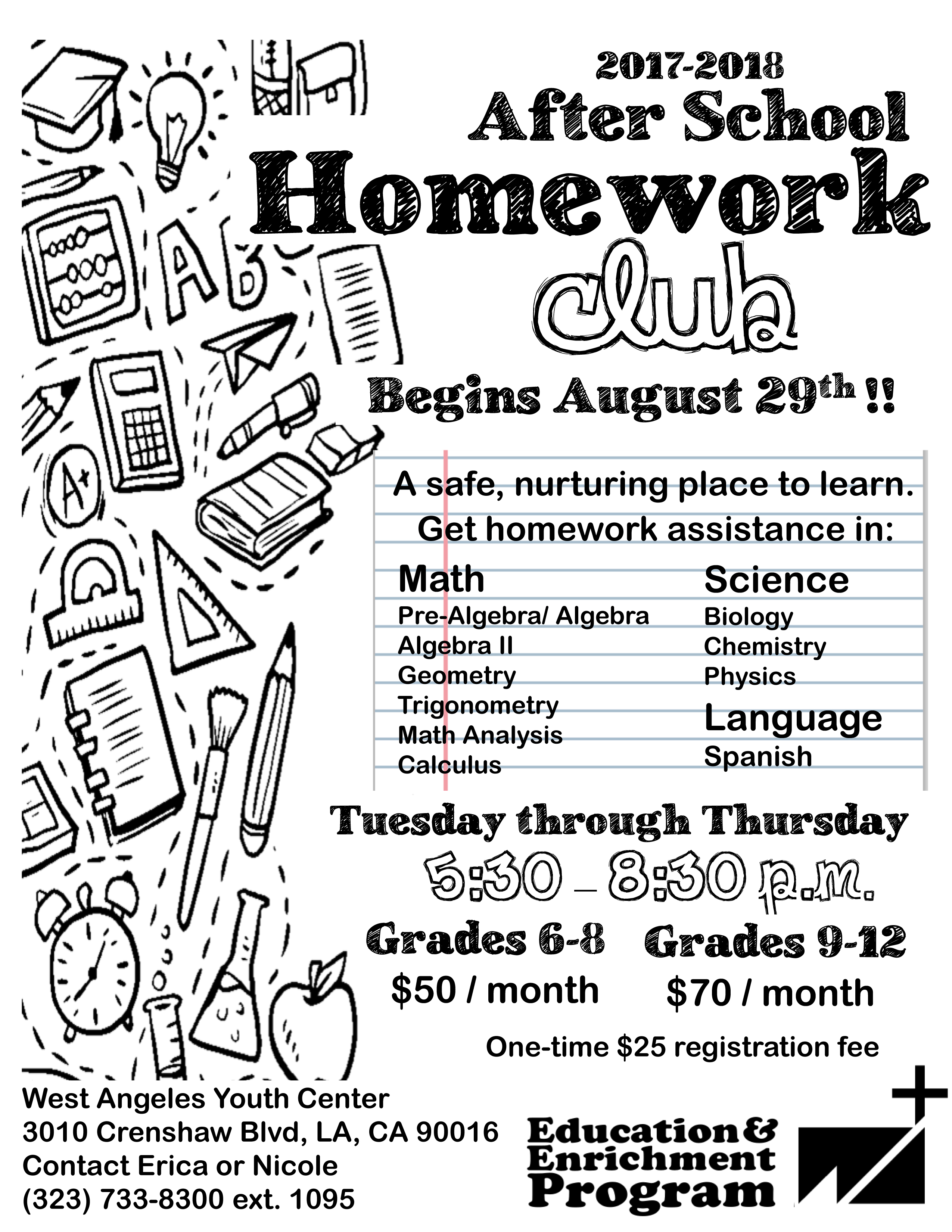 Afterschool Homework Help